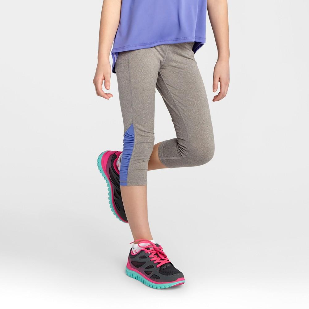 Girls Ruched Performance Capri Leggings - C9 Champion Gray XS