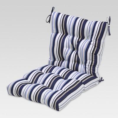 Tufted Chair Cushion - Blue Stripe - Threshold™