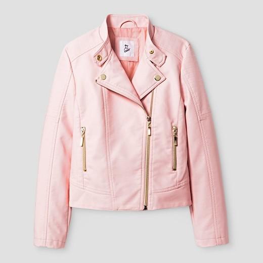 girls pink satin jacket : Target