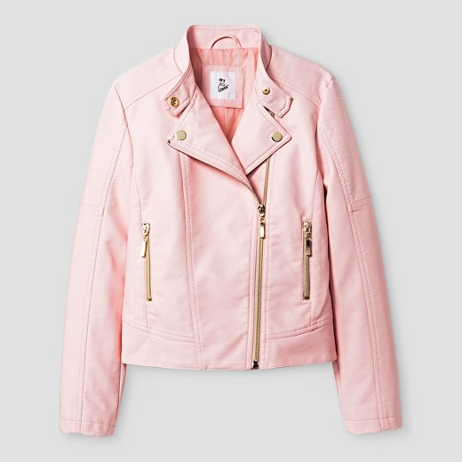 girls pink satin jacket : Target