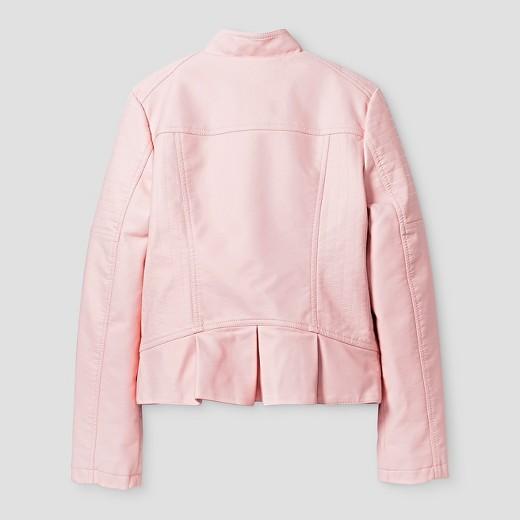 Girls' Moto Jacket - Art Class™ Pink : Target