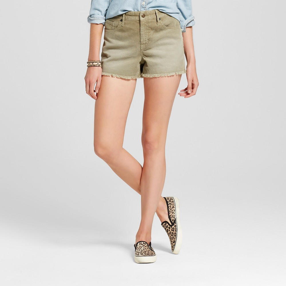 Womens Corduroy Shorts Olive (Green) 8 - Mossimo Supply Co.
