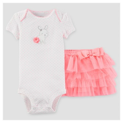 Baby Girls' 2pc Bunny Tutu Set - Just One You™ Made by Carter's® Pink Dot NB