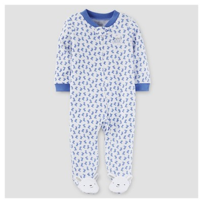 Baby Boys' Bunny Print Sleep N' Play - Just One You™ Made by Carter's® Blue NB