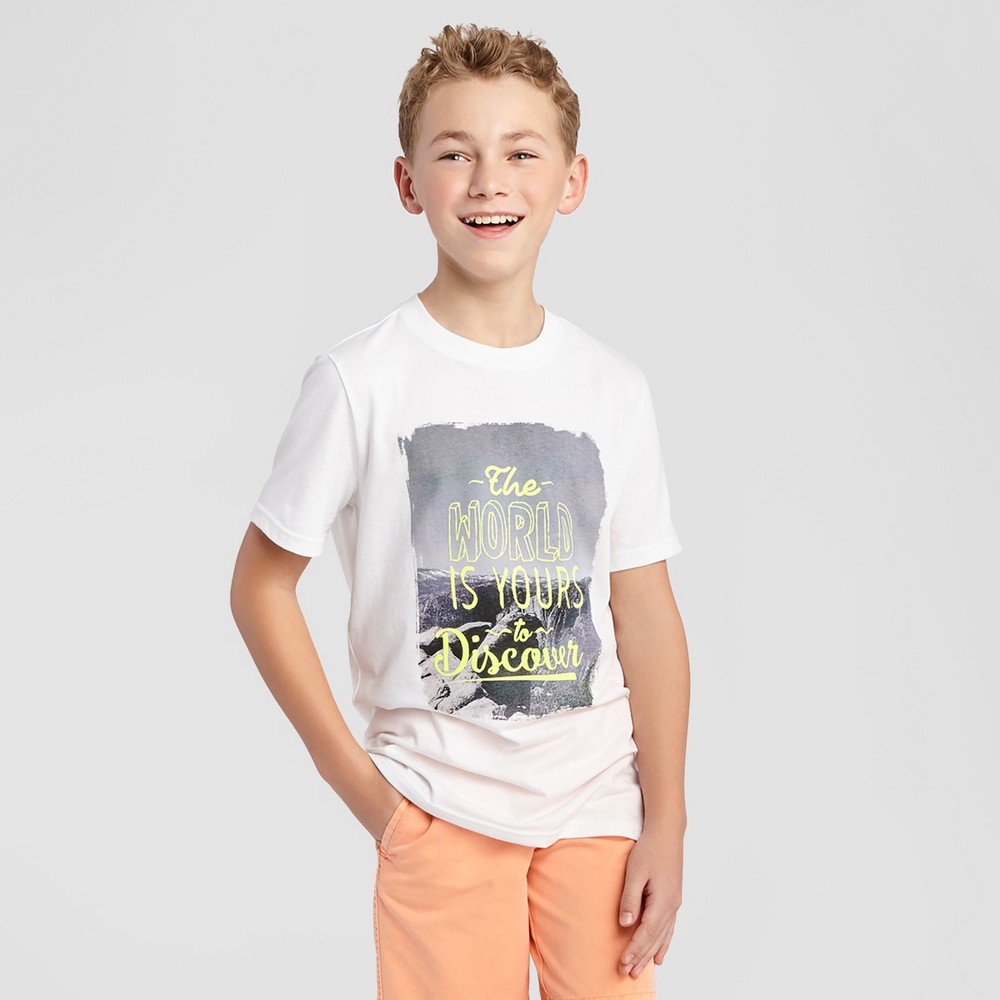 Boys Adventure Graphic T-Shirt - Cat & Jack Chalk White Xxl