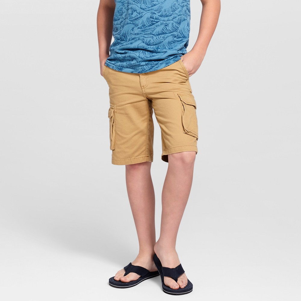 Boys Cargo Shorts - Cat & Jack Casual Brown 14