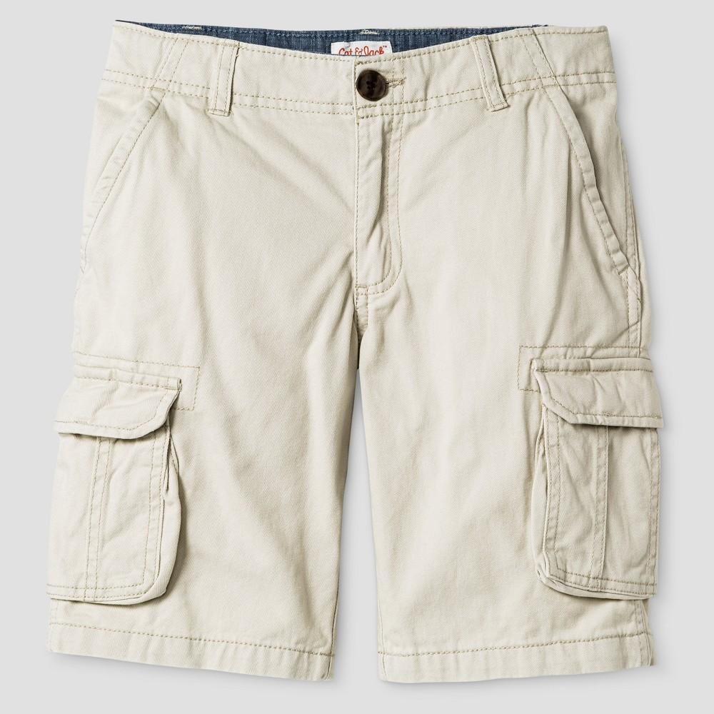 Boys Cargo Shorts - Cat & Jack Oyster 14