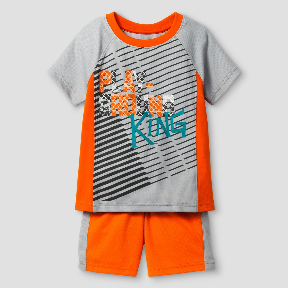 Baby Boys Top And Bottom Sets Cat & Jack - Gray Birch 18 M