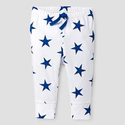 Baby Boys' Stars Leggings - Cat & Jack™ White NB