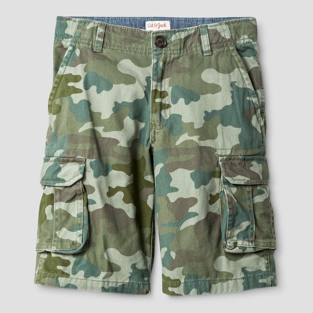 Boys Cargo Shorts - Cat & Jack Picnic Green 8 Husky
