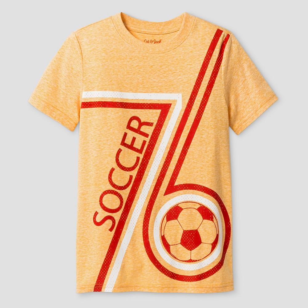 Boys' Soccer Graphic T-Shirt - Cat & Jack Tangerine Xxl, Orange