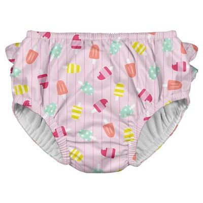 Baby Girls' Reusable Swim Diaper - Light Pink Popsicle 6 M - i play.®