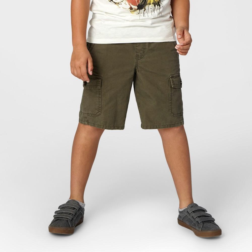 Boys Pull-On Cargo Shorts - Cat & Jack Olive Metal XL