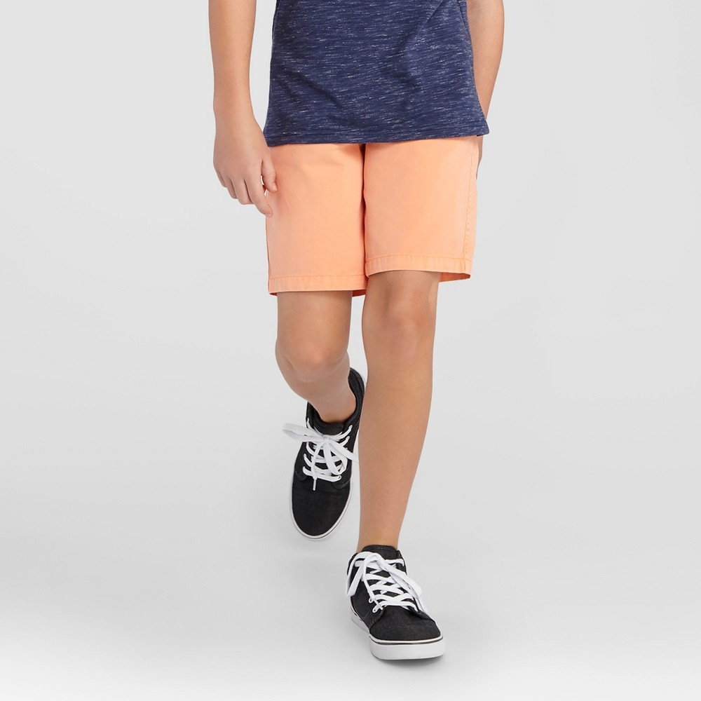 Boys Pull-On Jogger Shorts - Cat & Jack Orange Dream M