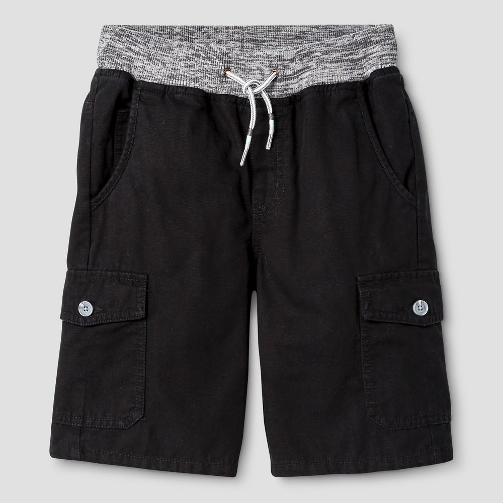 Boys Pull-On Cargo Shorts - Cat & Jack Black XL
