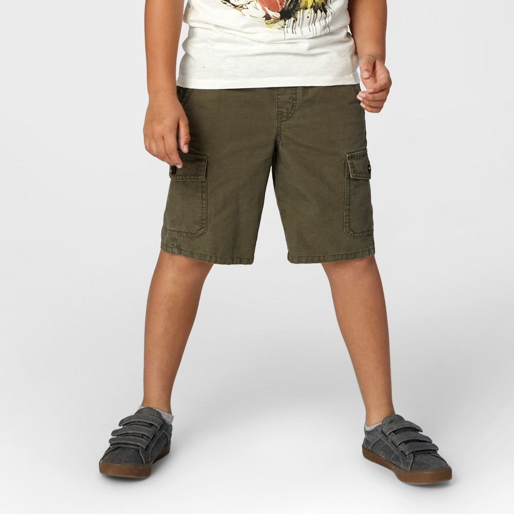 Boys Pull-On Cargo Shorts - Cat & Jack Olive Metal XS