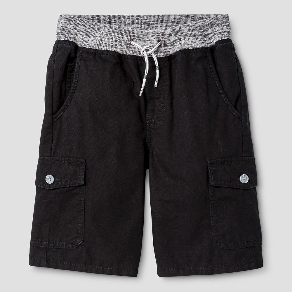 Boys Pull-On Cargo Shorts - Cat & Jack Black XS