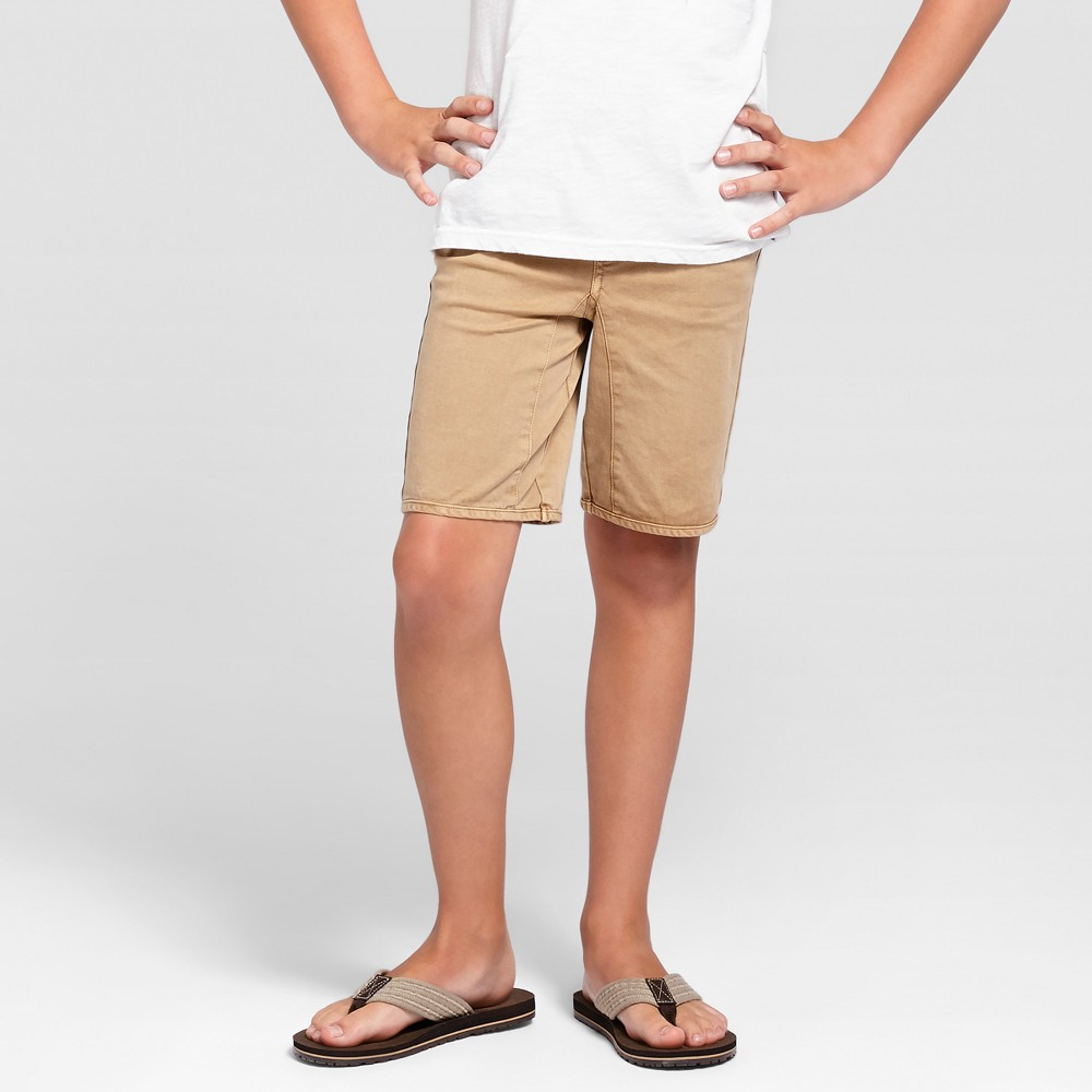 Boys Pull-On Jogger Shorts - Cat & Jack Brown Paper XS