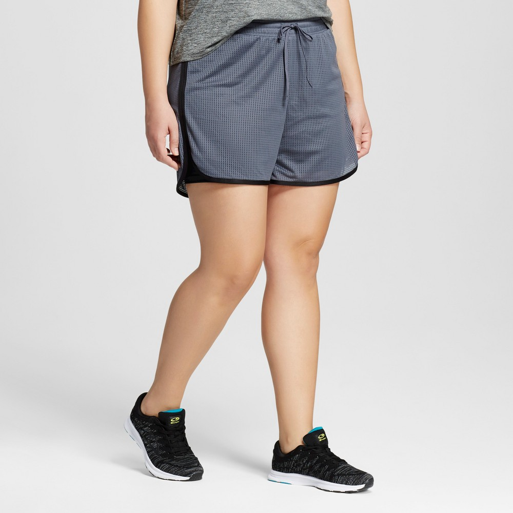 Womens Plus-Size Layered Shorts - C9 Champion Military Blue 3X