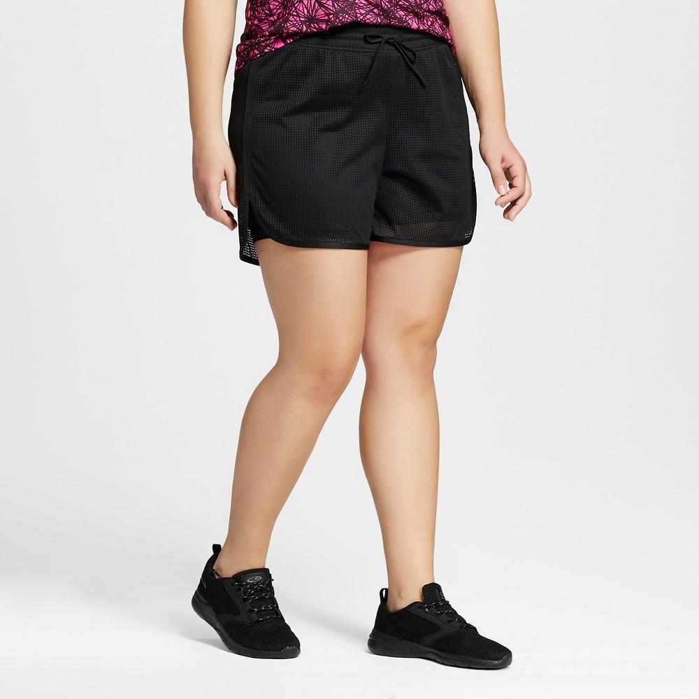 Womens Plus-Size Layered Shorts - C9 Champion Black 1X