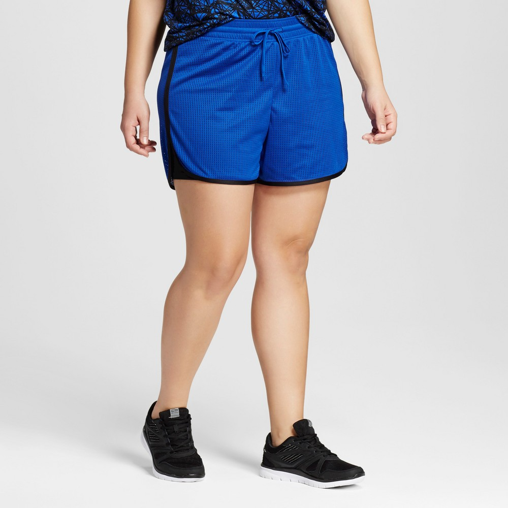 Womens Plus-Size Layered Shorts - C9 Champion Blue Allure 4X