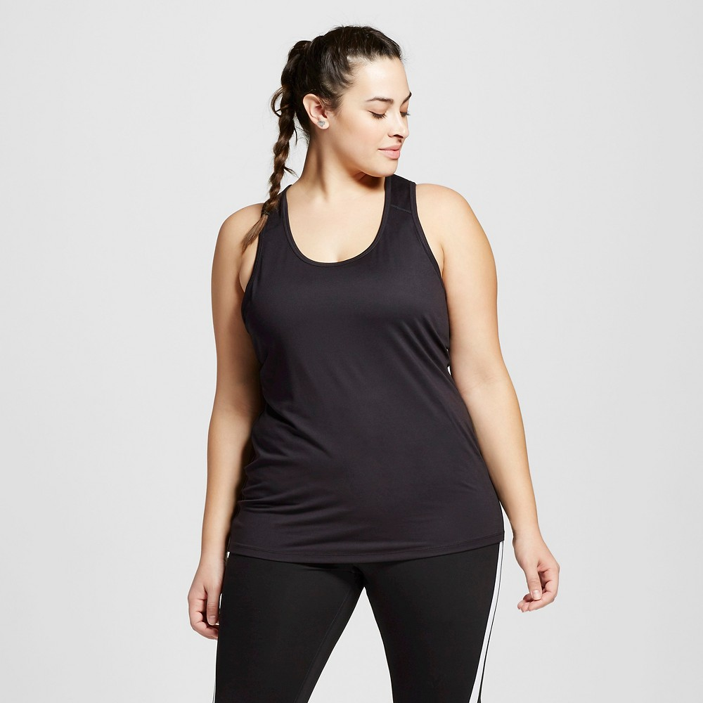Womens Plus-Size Performance Fitted Tank Top - C9 Champion Black 2X