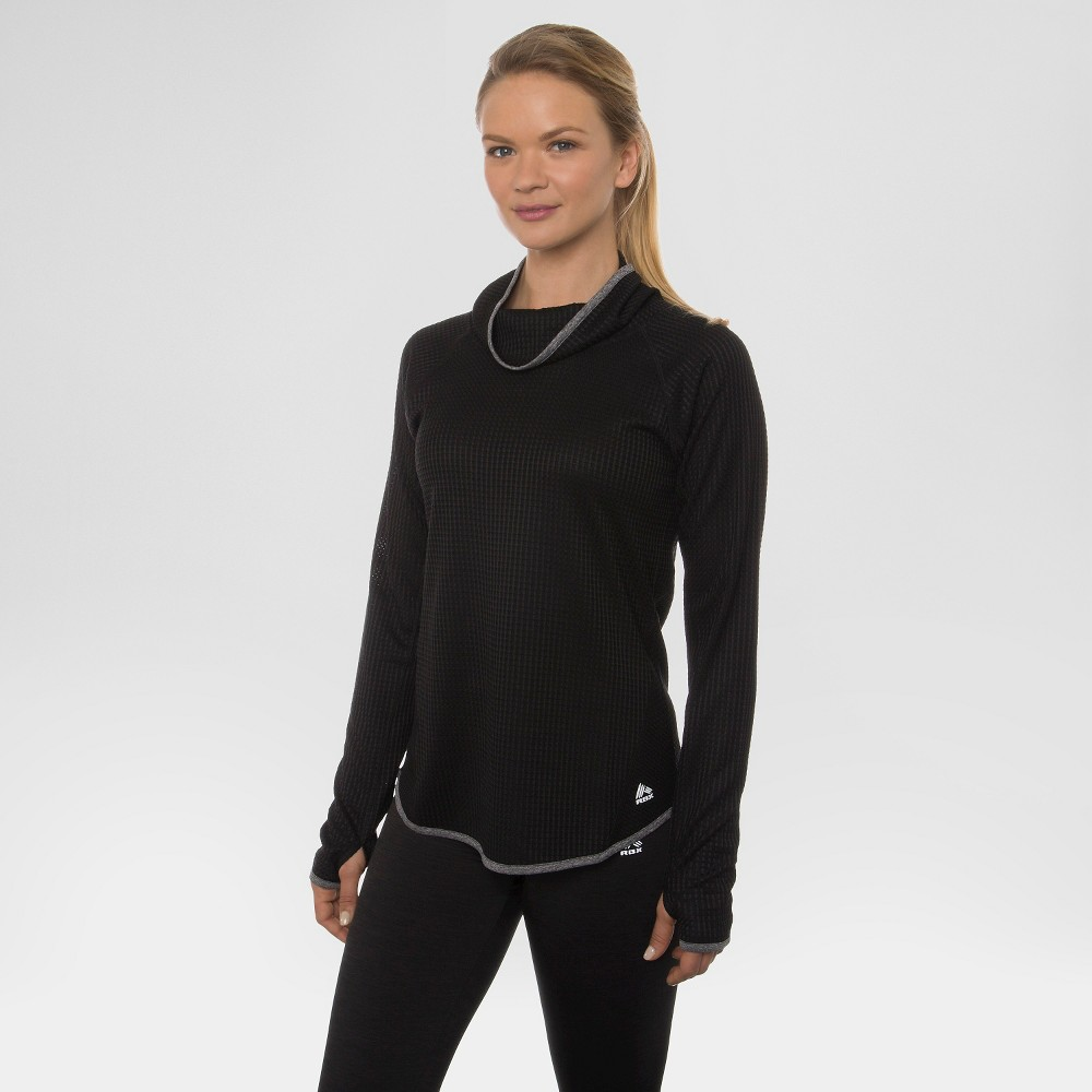 Women's Long Sleeve Cowl Neck Tee - Black XL - Rbx