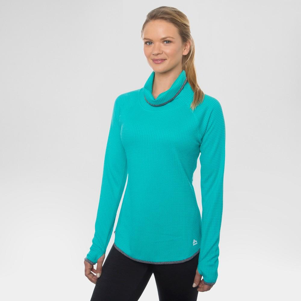Women's Long Sleeve Cowl Neck Tee - Green XL - Rbx