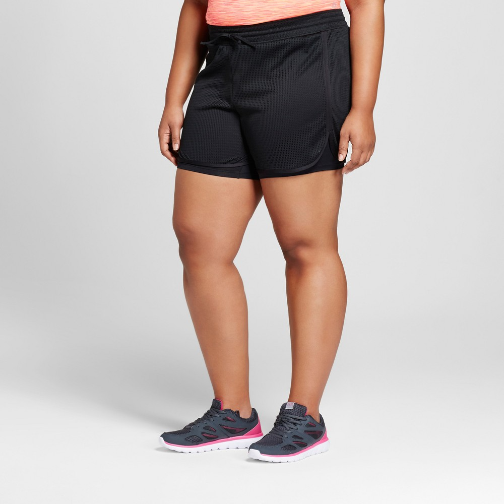Womens Plus-Size Sport Shorts - C9 Champion Black 4X