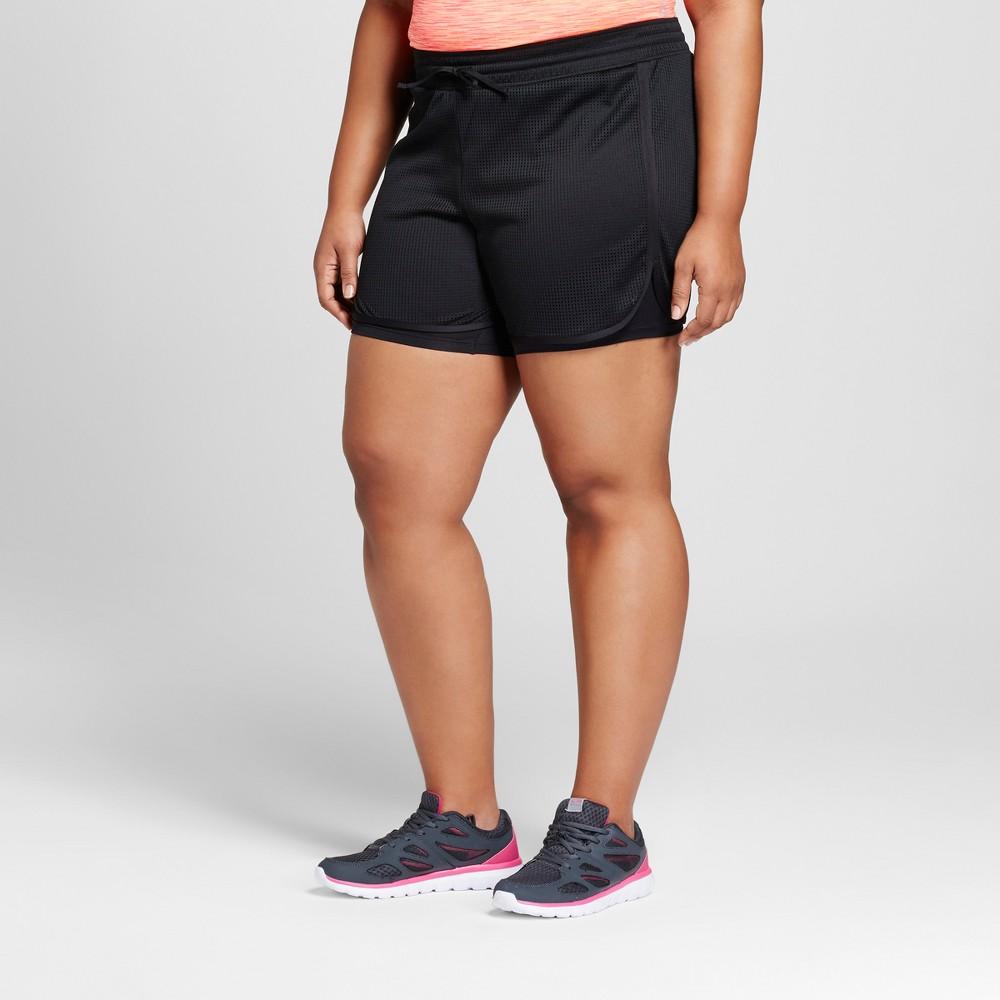 Womens Plus-Size Sport Shorts - C9 Champion Black 1X