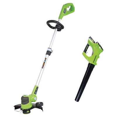Greenworks 24V Axial Blower and 12  Trimmer Combo Kit