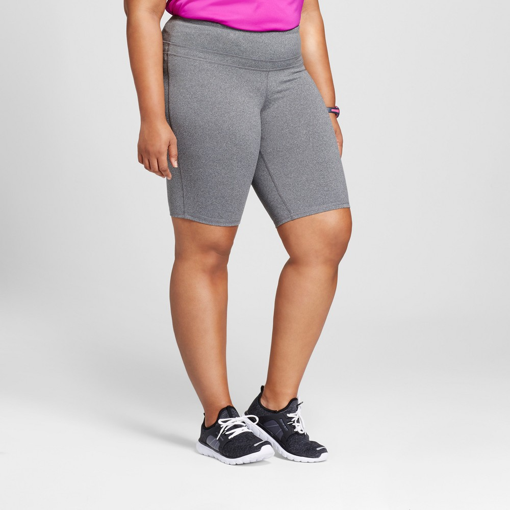 Womens Plus-Size Freedom Bermuda - C9 Champion Black Heather 2X, Dark Gray Heather