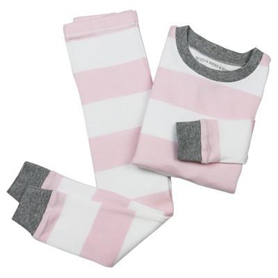 Toddler Girls' Striped Organic Cotton Pajama Set - Pink 2T - Burt's Bees Baby™