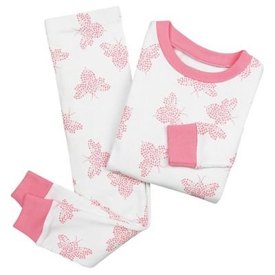 Burt's Bees Baby Toddler Girls' Bee Print Organic Cotton Pajama Set - Pink 2T
