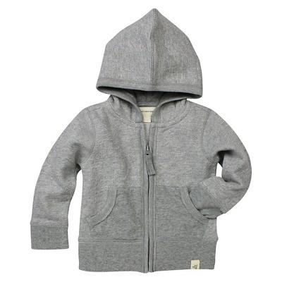 Baby Boys' Loose Pique Hoodie Heather Gray 0-3 M - Burt's Bees Baby®