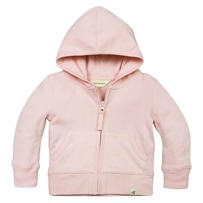 Baby Girls' Loose Pique Hoodie Pink 3-6 M - Burt's Bees Baby®
