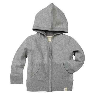 Baby Boys' Loose Pique Hoodie Heather Gray 6-9 M - Burt's Bees Baby®