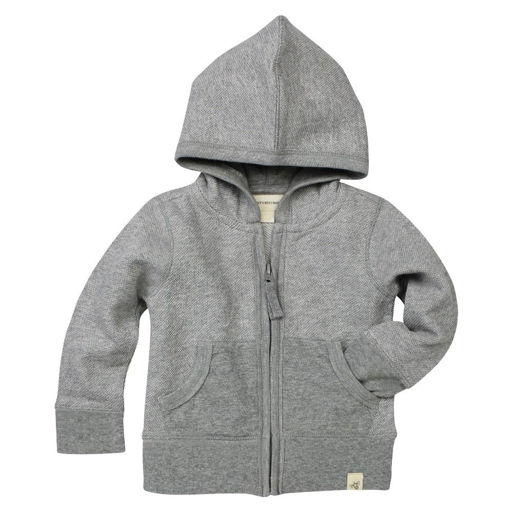 Baby Boys' Loose Pique Hoodie Heather Grey 6-9 M – Burt's Bees Baby, Gray