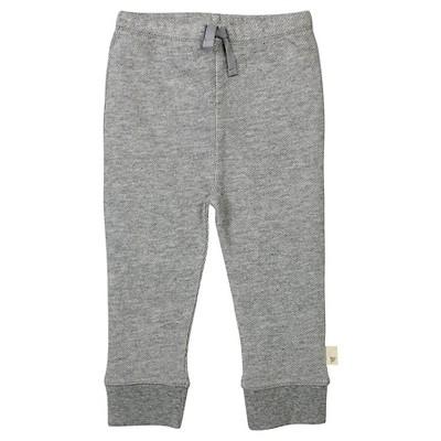 Baby Boys' Loose Pique Pants Heather Gray 6-9 M - Burt's Bees Baby®