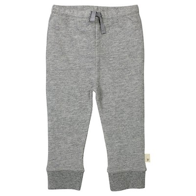 Baby Boys' Loose Pique Pants Heather Gray 12 M - Burt's Bees Baby®