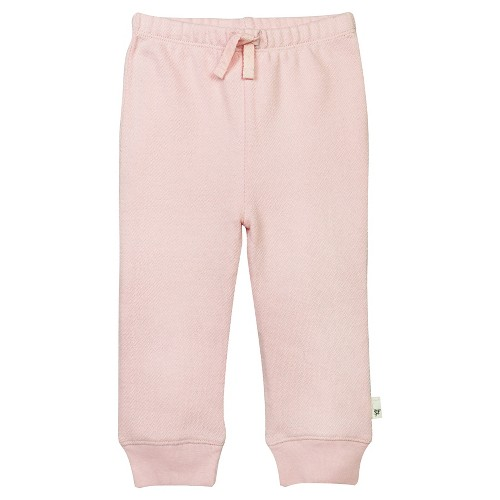 Baby Girls' Loose Pique Pant Pink 3-6 M - Burt's Bees Baby, Infant Girl's