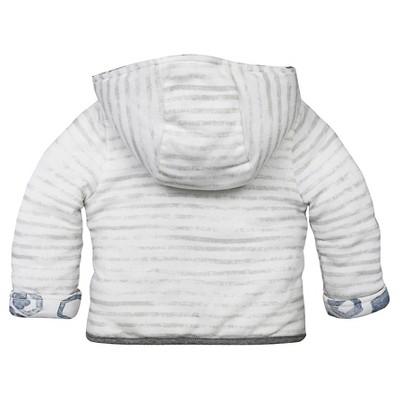Baby Boys' Watercolor Reversible Jacket Fog 12 M - Burt's Bees Baby, Infant Boy's, Gray
