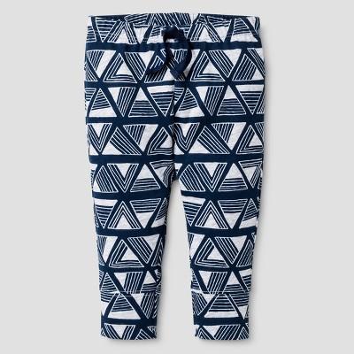 Baby Boys' Triangle Print Leggings - Cat & Jack™ Nighttime Blue 0-3 M