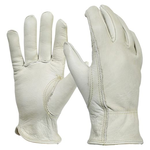 Women's Full-Grain Leather Gardening Gloves, Cream - Smith & Hawken™