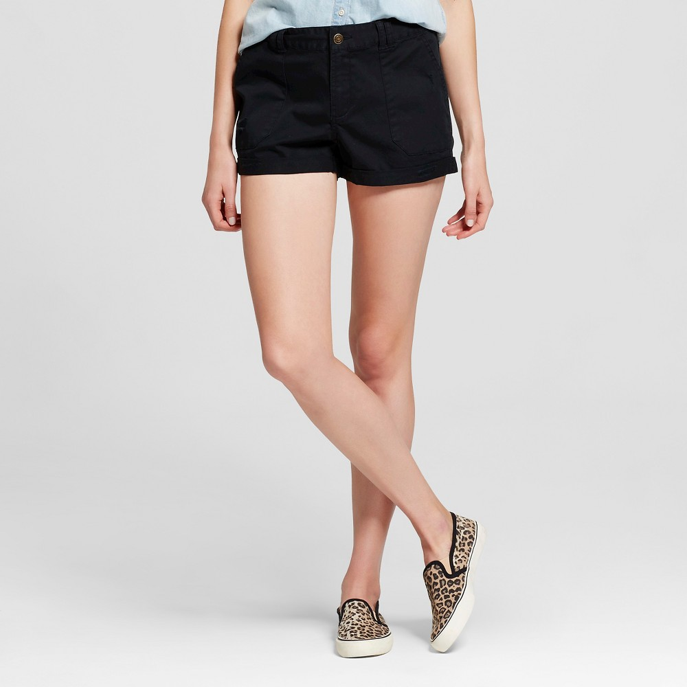 Womens Utility Shorts Black 00 - Mossimo Supply Co.