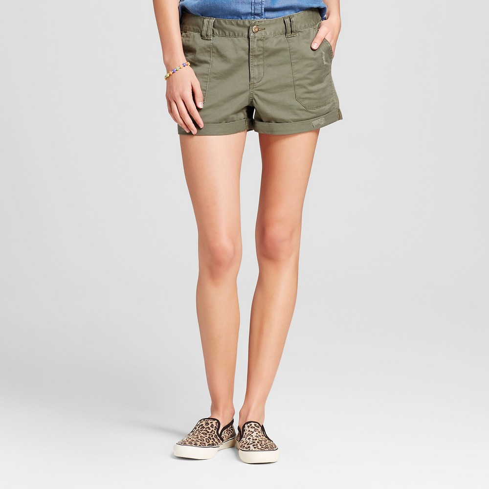 Womens Utility Shorts Olive (Green) 00 - Mossimo Supply Co.