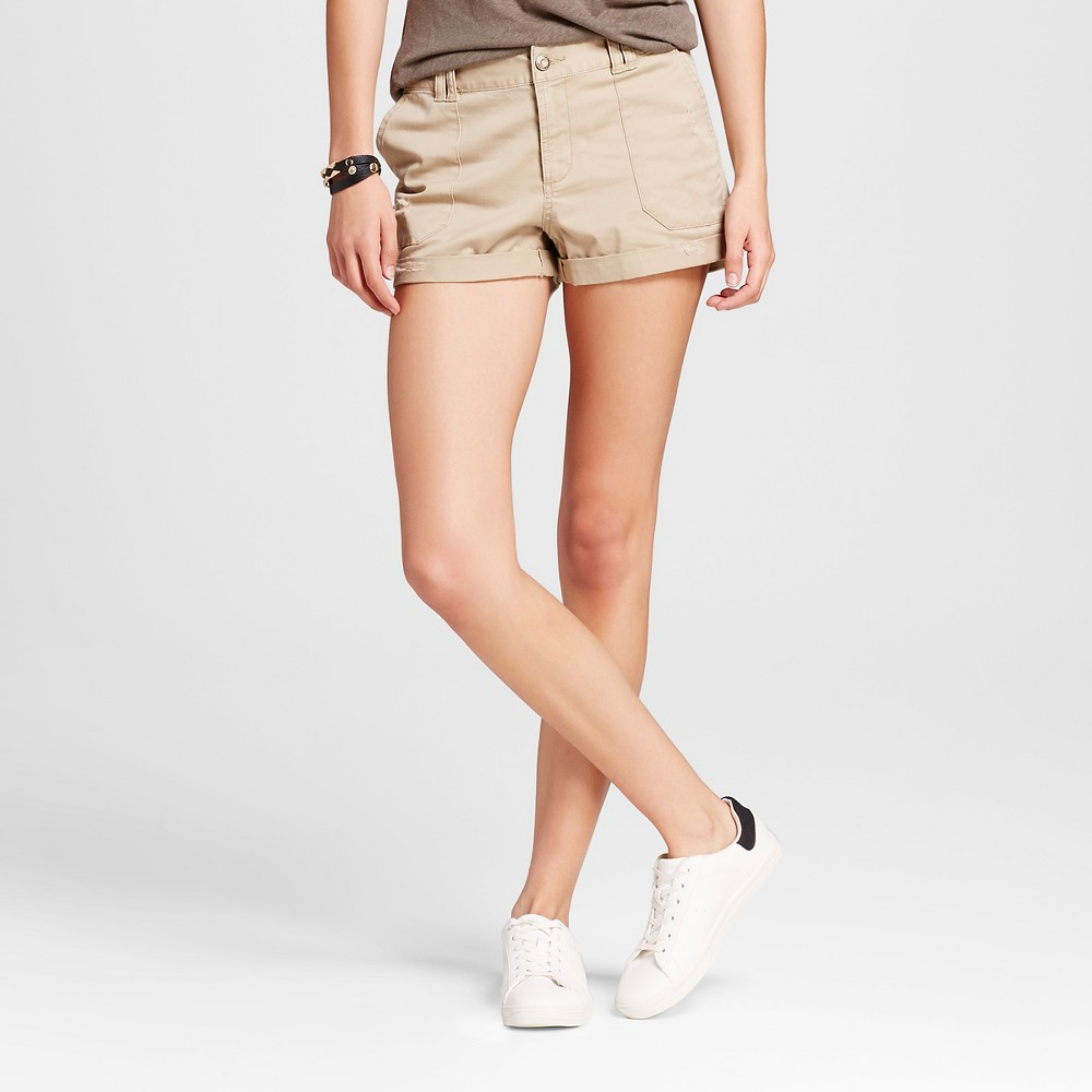Womens Utility Shorts Brown 0 - Mossimo Supply Co.
