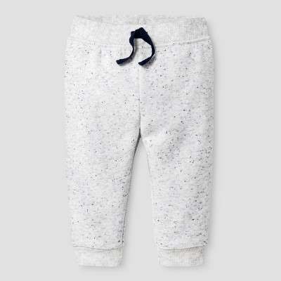 Baby Boys' Jogger Pants - Cat & Jack™ Gray with Blue Neps 0-3 M