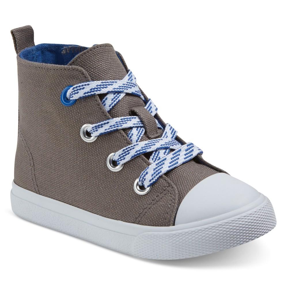 Toddler Boys Cade Hi-Top Sneakers Cat & Jack Grey 12, Gray