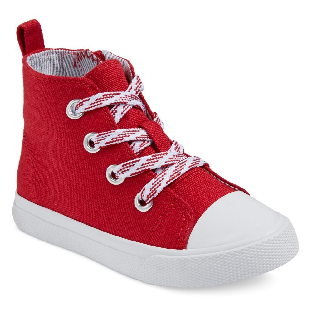 Toddler Boys Cade Hi-Top Sneakers Cat & Jack - Red 9